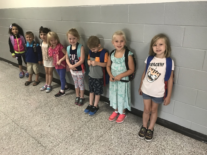 Morning line up—waiting to go in the classroom.