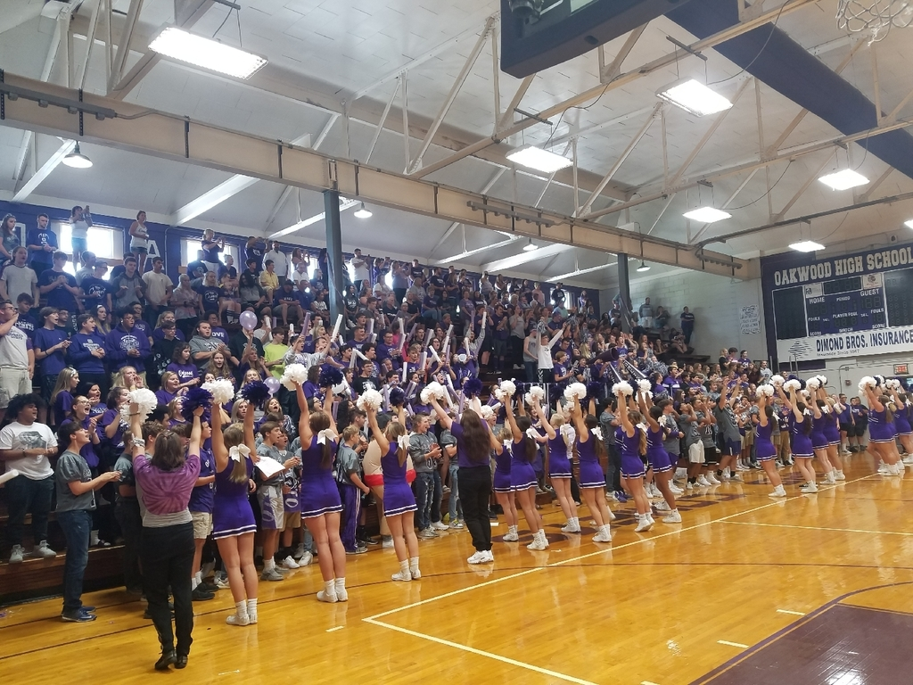 Student body is fired up during today's Homecoming Assembly at OHS!