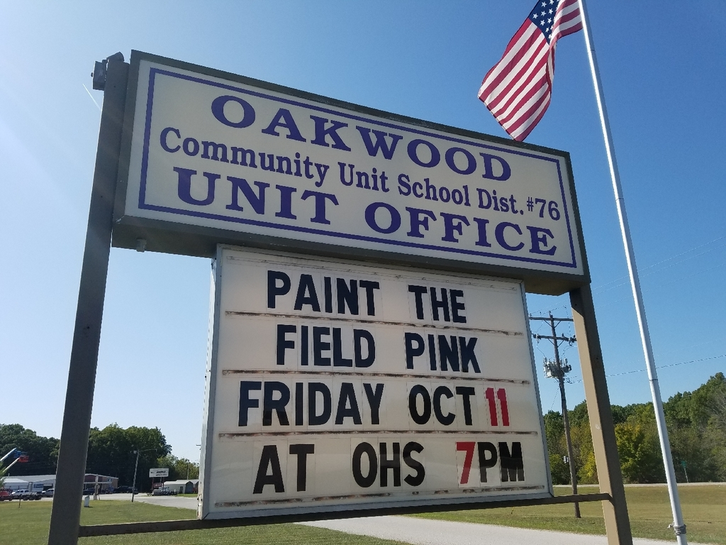 Paint The Field Pink night!  This Friday at OHS!