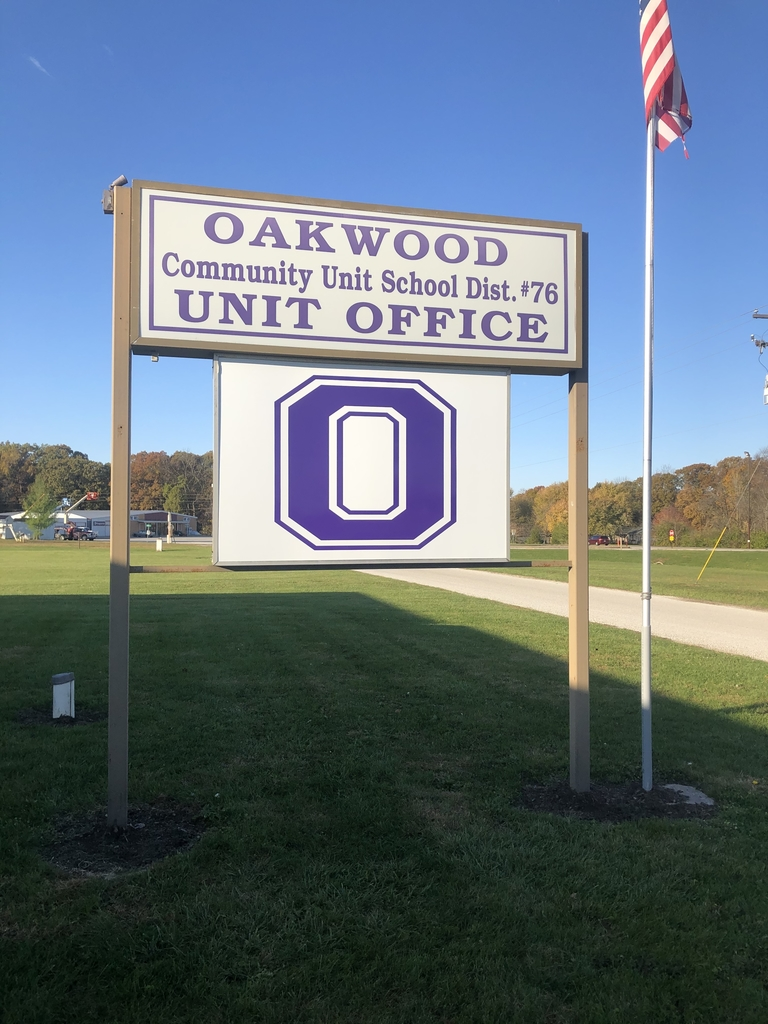 "Thank you to Graphix Zone of Oakwood for their quality design of our new Varsity ""O"" sign. Purple Pride in Education!"