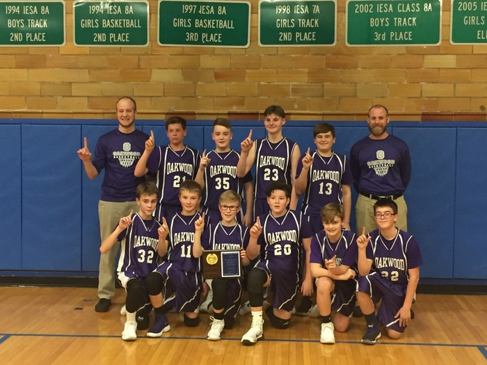 Congratulations to the OJHS Knights 7th Grade boys basketball team for winning the Vermilion County Tournament.