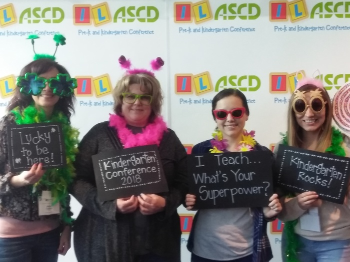 Take a look at these grade school teachers at the Kindergarten Conference. Can't wait to see some of the great things that they bring back to their classrooms!